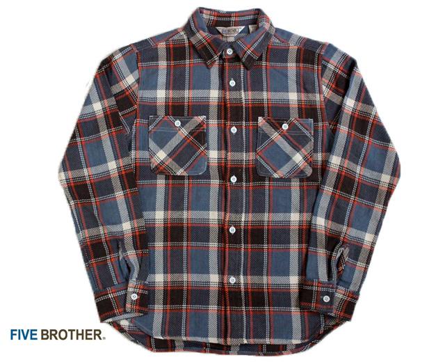 FIVE BROTHER ファイブブラザー ヘビーネルシャツ
