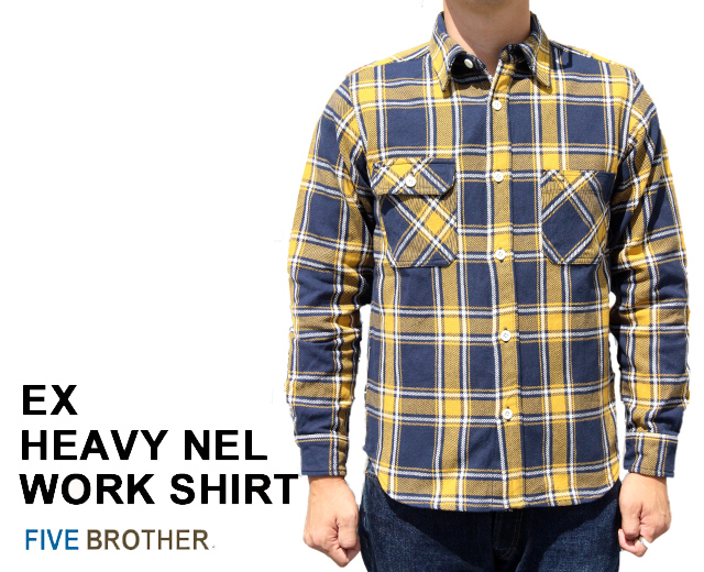 ファイブブラザー ネルシャツ