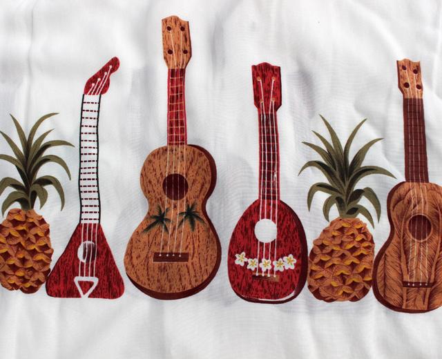 ヒューストン アロハシャツ ギター ウクレレ