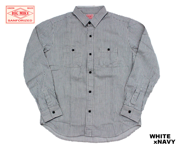 BIGMIKE ビッグマイク ヒッコリーストライプワークシャツ