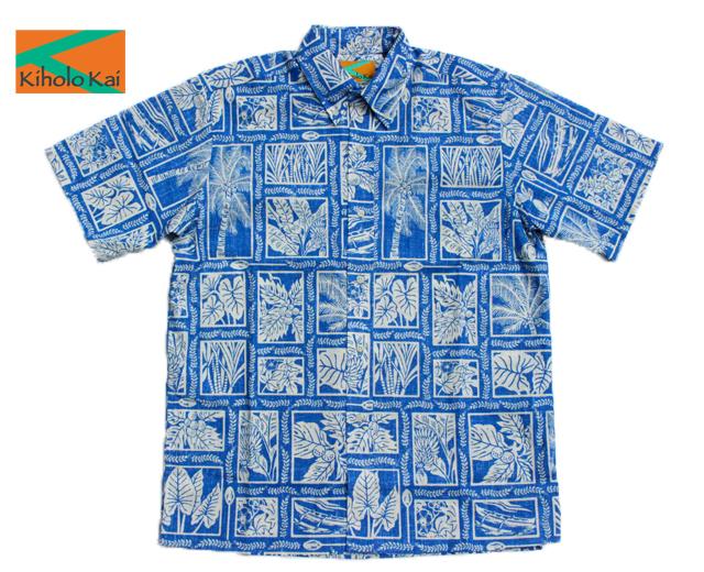 キホロカイ アロハシャツ カノエプランツ ハワイ製