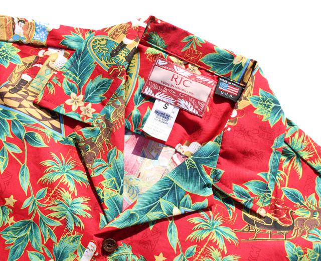 RJC アロハシャツ サンタクロース クリスマス ハワイ製