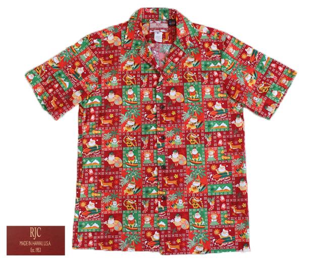 RJC アロハシャツ クリスマス サンタ ハワイ製