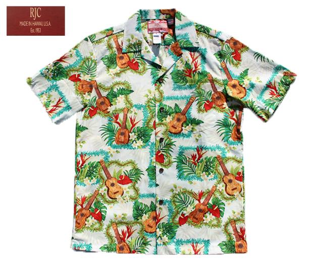 RJC アロハシャツ ウクレレ&レイ ハワイ製