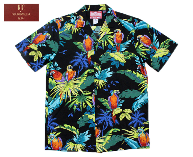 RJC アロハシャツ オウム 鳥 ハワイ製