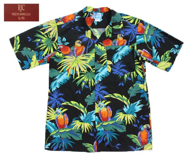 RJC アロハシャツ ボーイズ オウム ハワイ製
