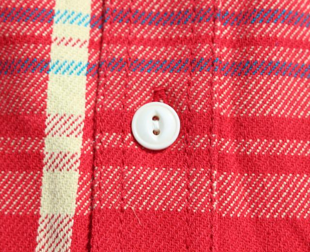 ヒューストン,ネルシャツ,ビエラ,猫目ボタン,ワークシャツ