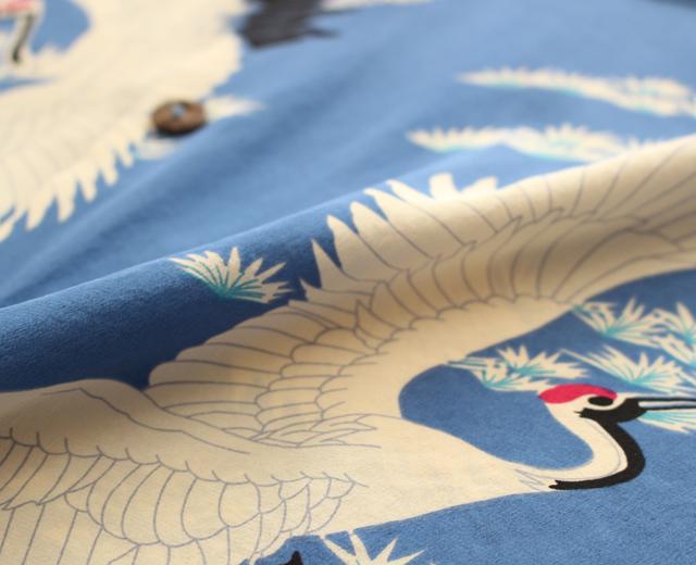 アロハシャツ,和柄,鶴,画像,アヴァンティ,