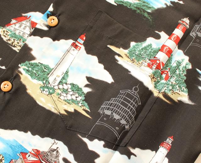 パラダイスファウンド アロハシャツ 灯台