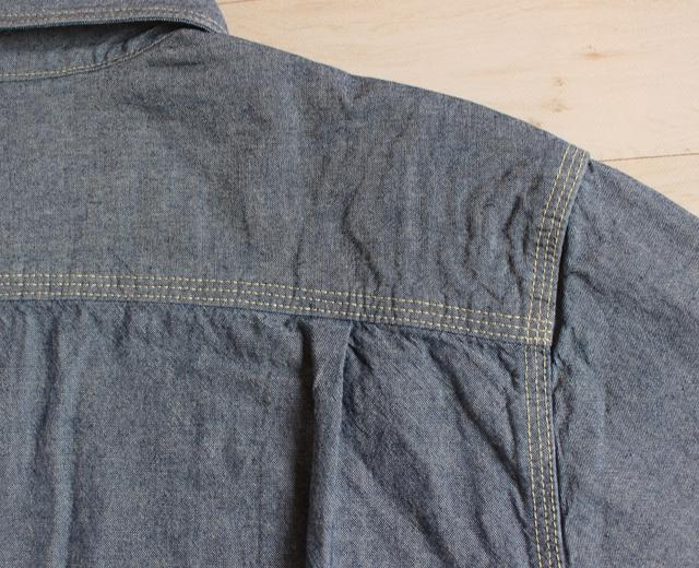 ファイブブラザー FIVE BROTHER シャンブレーワークシャツ 長袖 黒