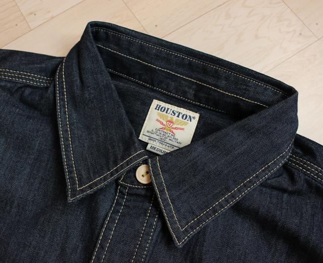 ヒューストン 45周年記念 デニムワークシャツ