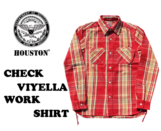 ヒューストン,ネルシャツ,ワークシャツ