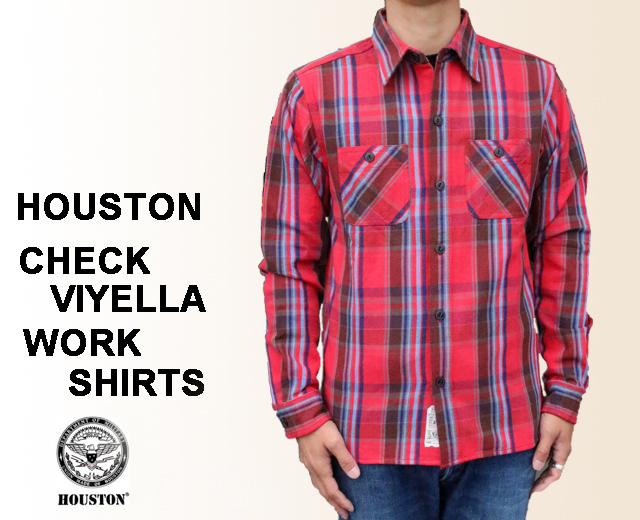 ヒューストン ネルシャツ ビエラ ワークシャツ